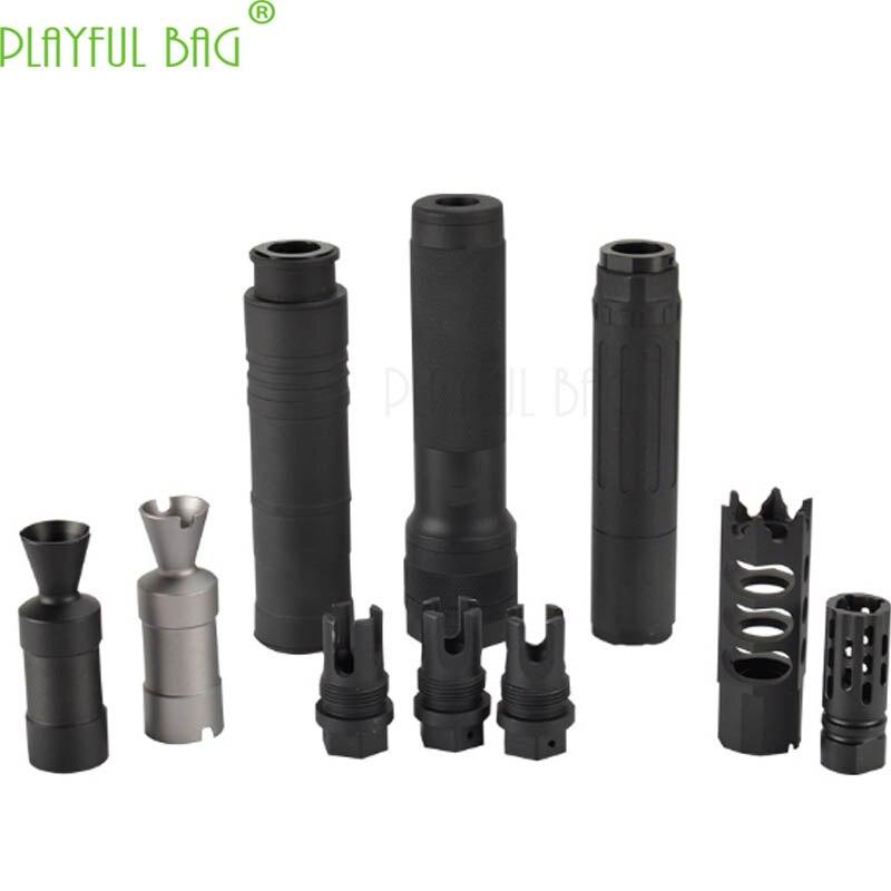 Jinming AK upgrade material fire cap muffler 14mm reverse teeth Jinming11 Renxiang AK47 water bullet gun refitting parts MI97
